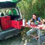 Una casa rodante portátil para salir de camping