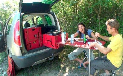 Una casa rodante port til para salir de camping campingchile for Ducha electrica chile