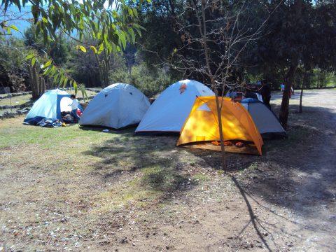 camping cajon del maipo